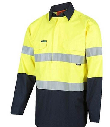 FLAREX PPE1 FR Inherent Closed Front NENS09 155gsm Lightweight Taped Shirt