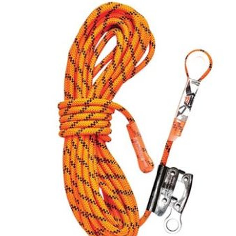 Kernmantle Rope with Thimble Eye & Rope Grab 15M