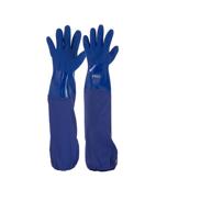 60cm Blue PVC Gloves