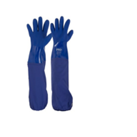 60cm Blue PVC Gloves