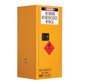Flammable Storage Cabinet 60L 1 Door, 2 Shelf