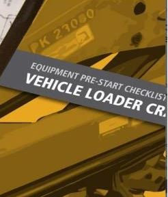 Pre-Start— Vehicle Mounted Loader Crane