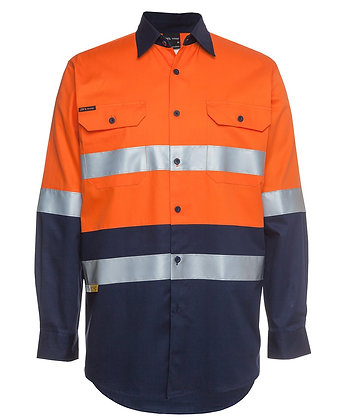 JB's HI VIS (D+N) L/Sleeve 190G Shirt