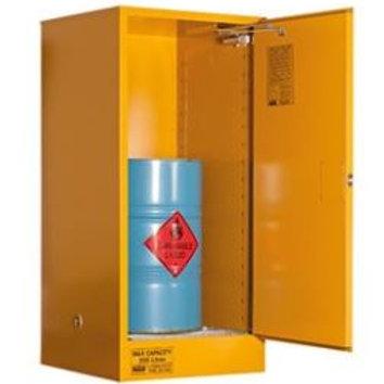 Flammable Storage Cabinet 205L 1 Door, Roller Set Shelf