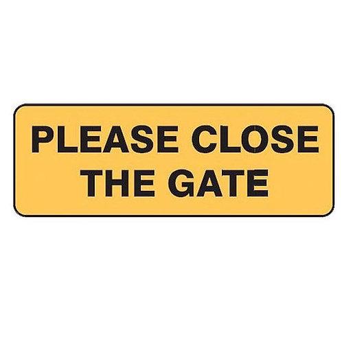 Garden & Lawn Sign - Please Close The Gate