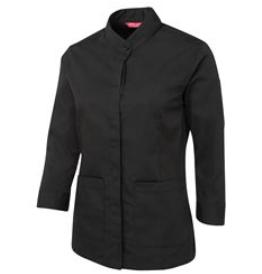 Ladies 3/4 Hospitality Shirt - black