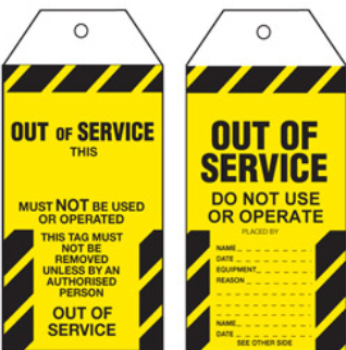 Out of Service Tag – STA004