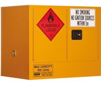Flammable Storage Cabinet 100L 2 Door, 1 Shelf