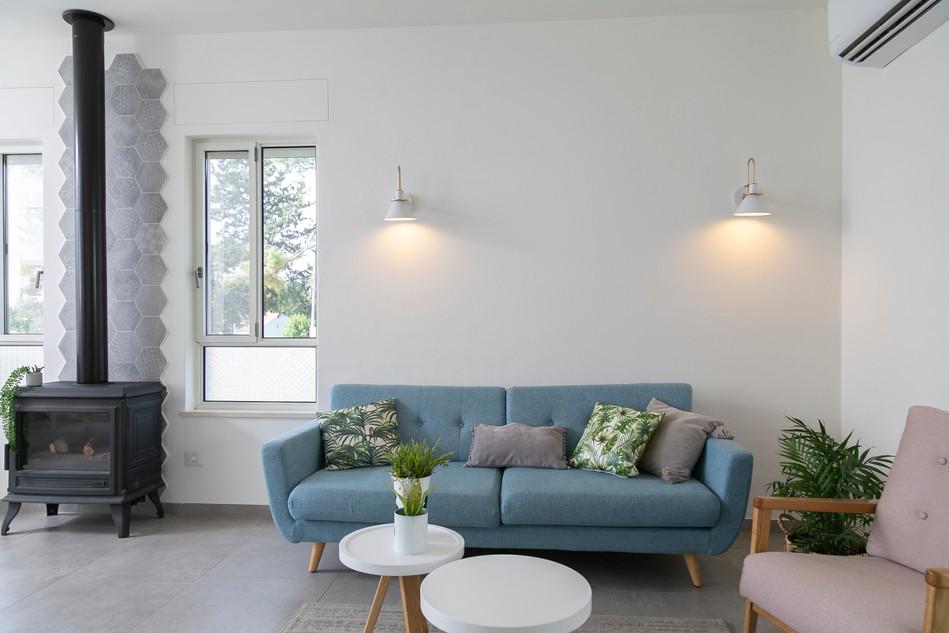 סלון ספה כחולה