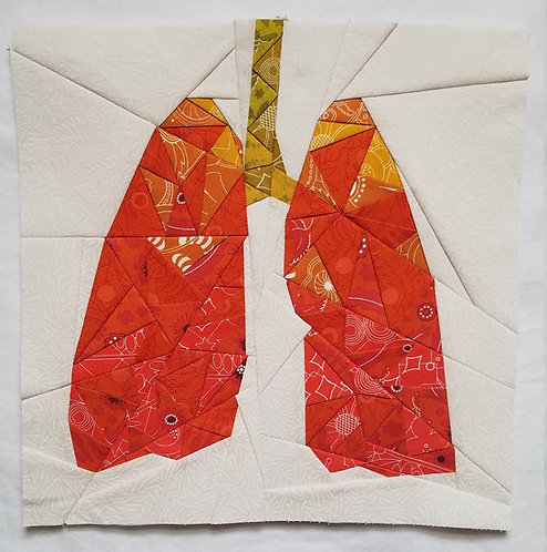 Lungs Organs Foundation Paper Piecing Pattern