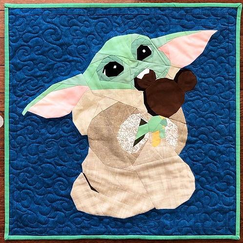 Baby Yoda Mickey Ice Cream Disney Foundation Paper Piecing Pattern