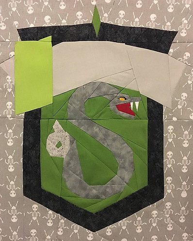 Slytherin House Crest Foundation Paper Piecing Pattern
