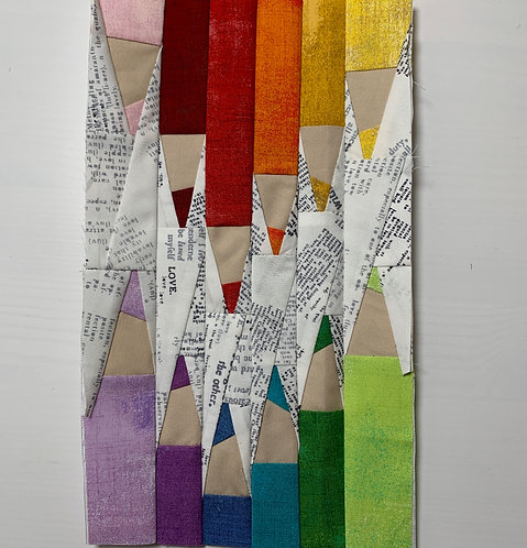 Colored Pencils Lined Up Foundation Paper Piecing Pattern