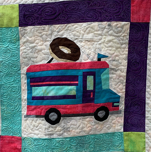 Donut Food Truck Foundation Paper Piecing Pattern