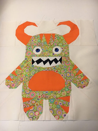 Monster Alien 2 Outer Space Foundation Paper Piecing Pattern