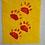 Thumbnail: Bear Tracks Footprints Foundation Paper Piecing Pattern