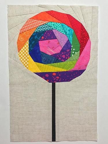 Lollipop Rainbow Geometric Foundation Paper Piecing Pattern