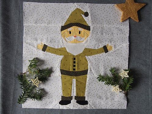 Santa Foundation Paper Piecing Pattern