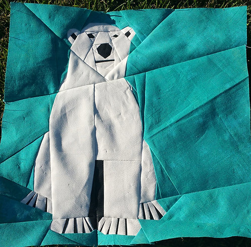 Polar Bear Foundation Paper Piecing Pattern