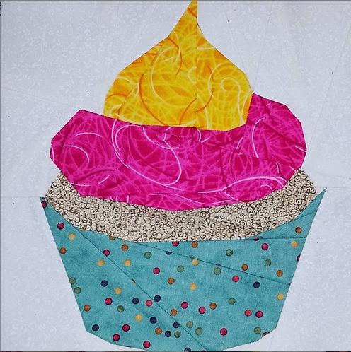 Cupcake Foundation Paper Piecing Pattern