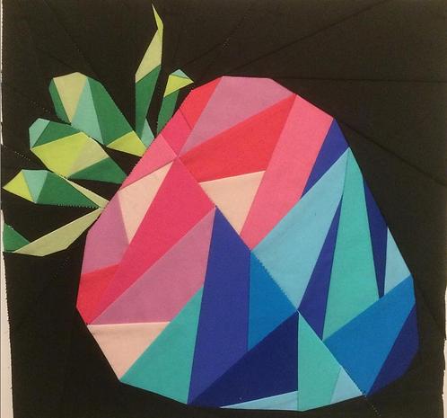 Geometric Strawberry Foundation Paper Piecing Pattern