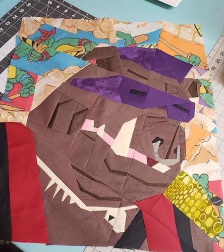 Bebop Ninja Turtles Foundation Paper Piecing Pattern