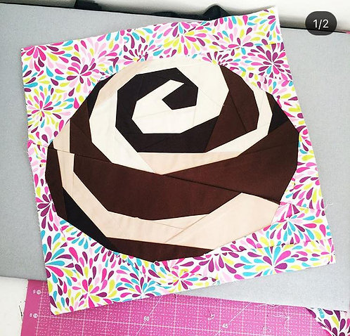 Cinnamon Sweet Roll Foundation Paper Piecing Pattern