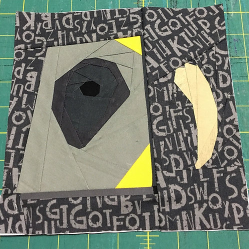Tom Riddle's Diary and Basilisk Tooth Foundation Paper Piecing Pattern
