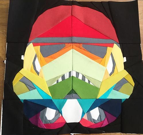 Storm Trooper Star Wars Foundation Paper Piecing Pattern