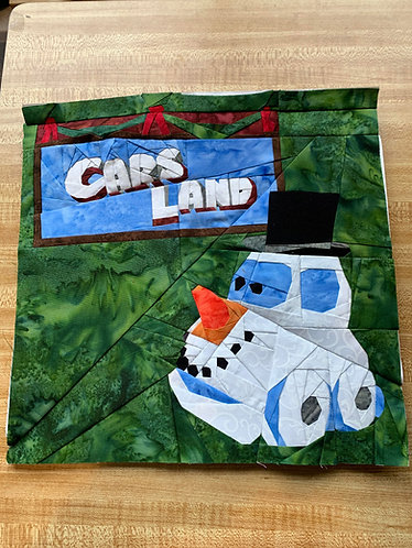 Cars Land Christmas Banner Foundation Paper Piecing Pattern