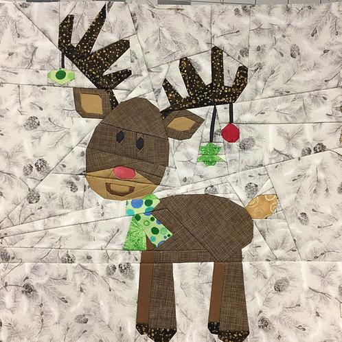Reindeer Christmas Foundation Paper Piecing Pattern