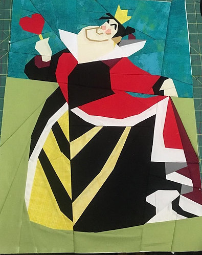 Queen of Hearts from Alice in Wonderland Foundation Paper Piecing Pattern