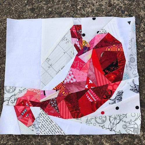 Geometric Stomach Organ Foundation Paper Piecing Pattern