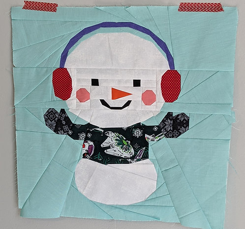 Snowman Christmas Winter Foundation Paper Piecing Pattern