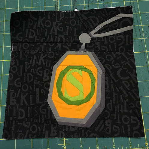 Slytherin Locket Horcrux Foundation Paper Piecing Pattern