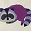 Thumbnail: Racoon Sleeping Foundation Paper Piecing Pattern
