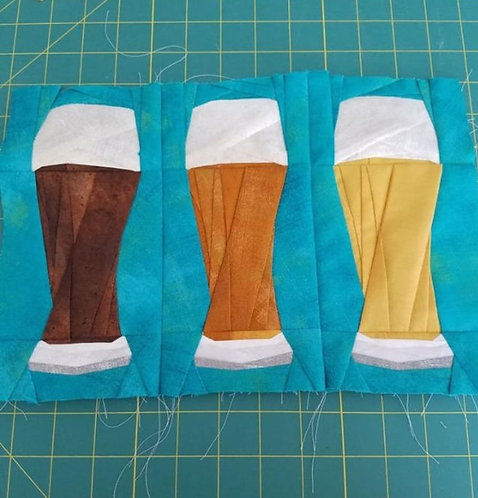 Drink Alcohol Beer Foundation Paper Piecing Pattern