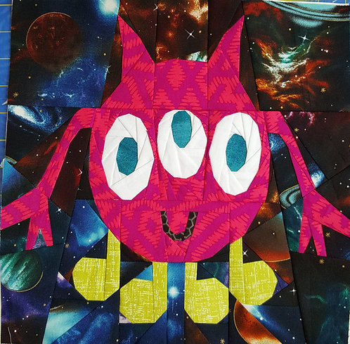 Monster Alien 5 Outer Space Foundation Paper Piecing Pattern