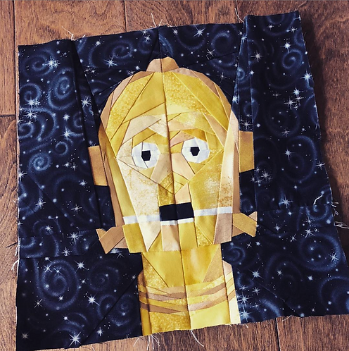 C3PO Star Wars Droid Foundation Paper Piecing Pattern