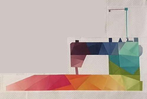 Rainbow Geometric Juki Sewing Machine Foundation Paper Piecing Pattern