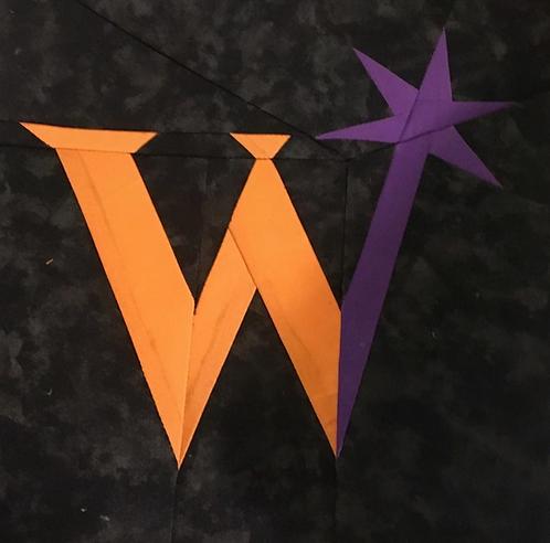 Weasley's Wizard Wheezes Logo Foundation Paper Piecing Pattern
