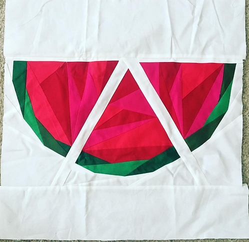 Geometric Watermelon Foundation Paper Piecing Pattern