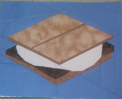 Smore Foundation Paper Piecing Pattern