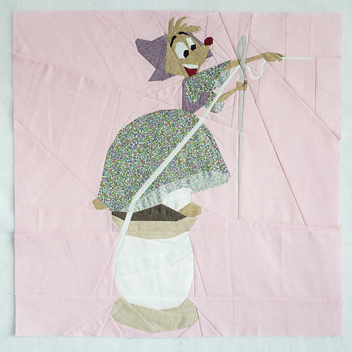 Suzy Mouse Cinderella Sewing Foundation Paper Piecing Pattern