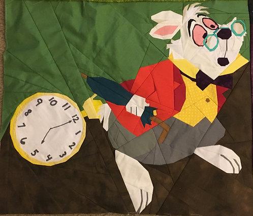 White Rabbit from Alice in Wonderland Foundation Paper Piecing Pattern