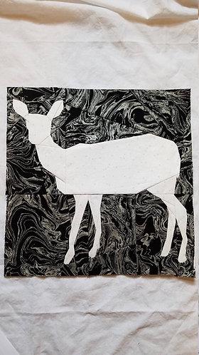 Deer Foundation Paper Piecing Pattern