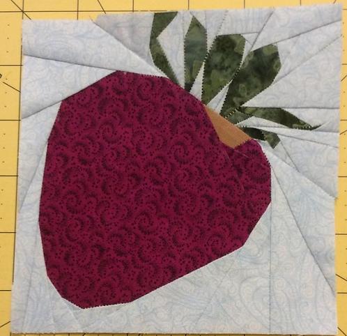 Strawberry Foundation Paper Piecing Pattern