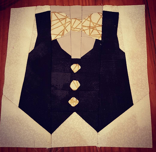 Vest and Bow Tie Foundation Paper Piecing Pattern