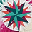 Thumbnail: Star Compass Foundation Paper Piecing Pattern