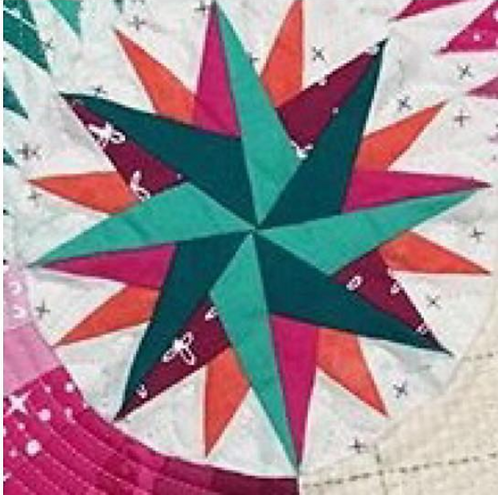 Star Compass Foundation Paper Piecing Pattern
